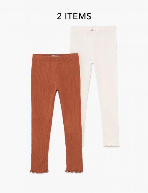 מארז 2 זוגות מכנסי ריב ארוכים