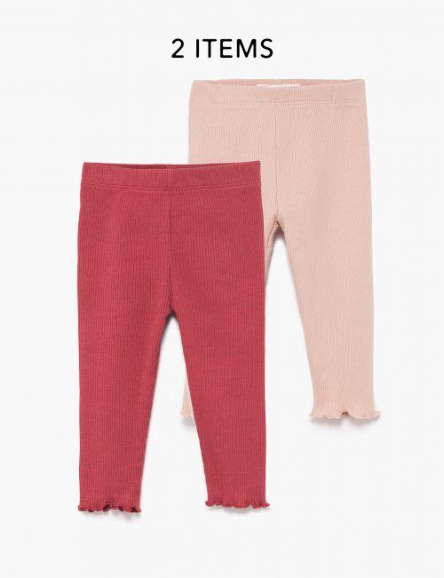מארז 2 מכנסי ריב ארוכים