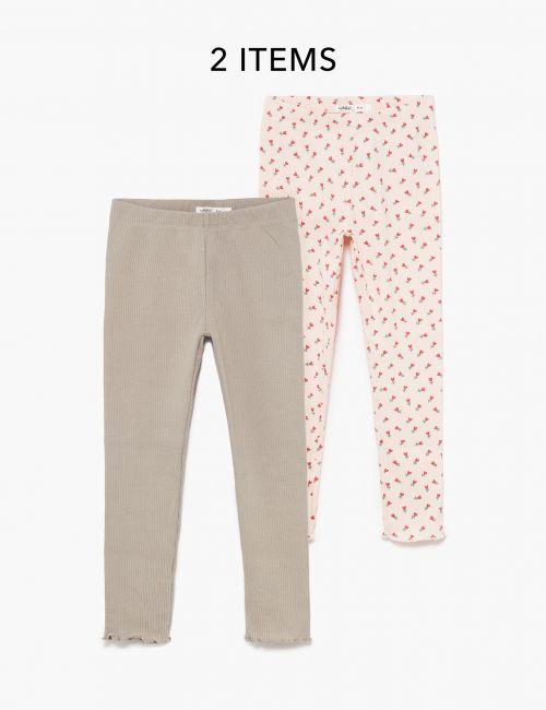 מארז 2 זוגות מכנסי ריב מודפסים