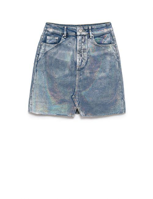 חצאית ג'ינס מטאלית