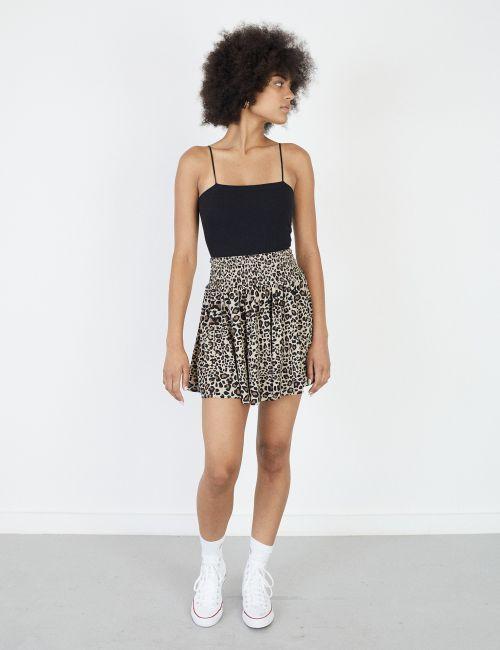 חצאית מיני מודפסת