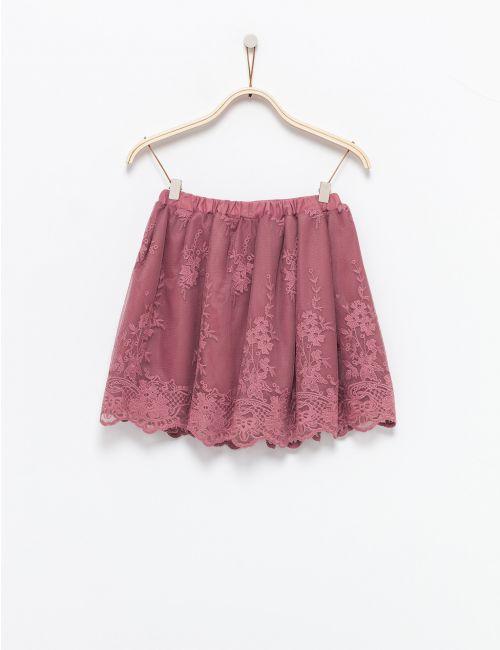 חצאית טוטו עם רקמה