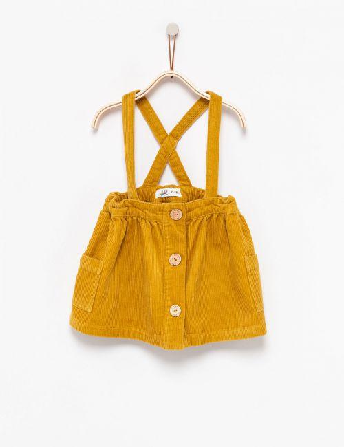 שמלת - חצאית קורדרוי עם שלייקס