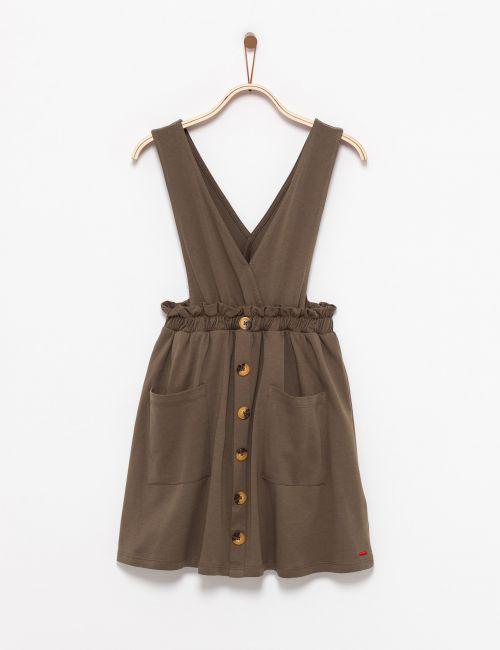 שמלת סרפן עם כפתורים