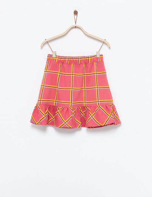 חצאית פפלום משבצות