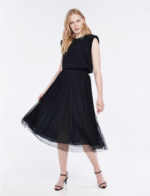 חצאית פליסה עם טול