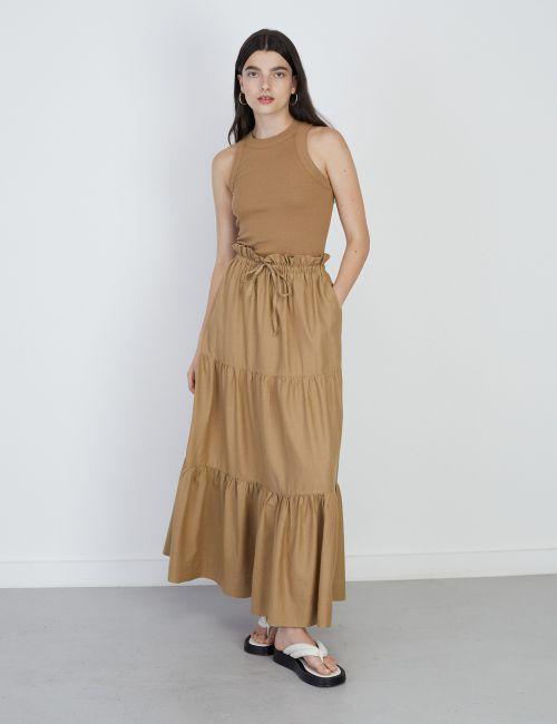 חצאית קומות עם שרוך קשירה