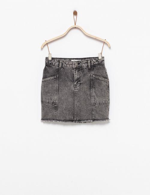 חצאית ג'ינס ניטים