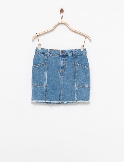 חצאית ג'ינס כיסים