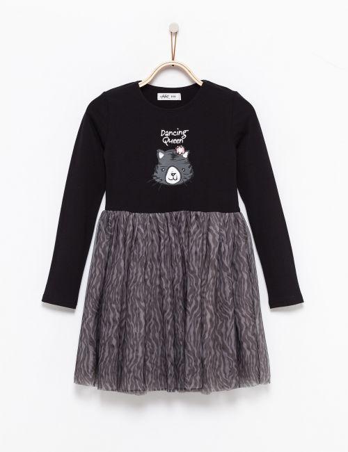שמלת טוטו בהדפס חיה