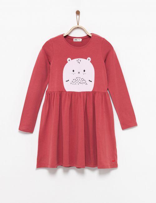 שמלה בהדפס חיה
