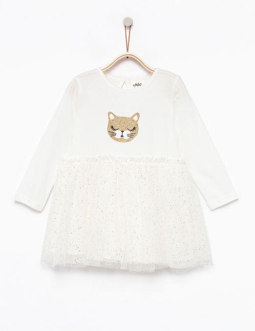 שמלת טוטו בהדפס חתול
