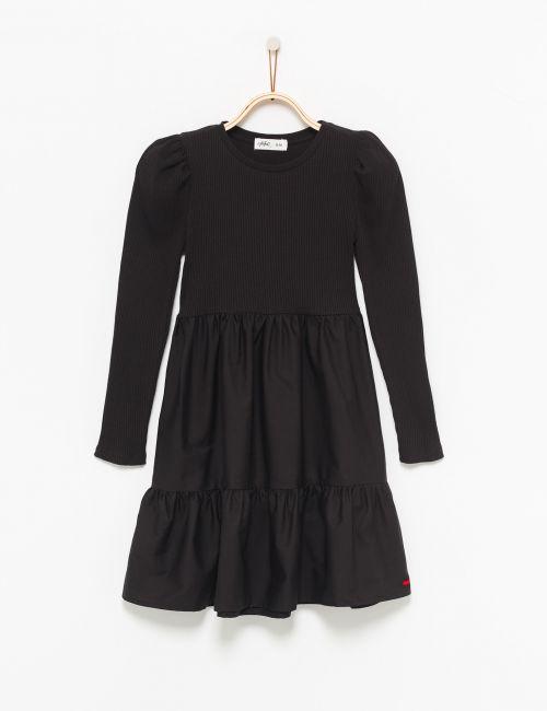 שמלת ריב קומות עם שרוולים תפוחים