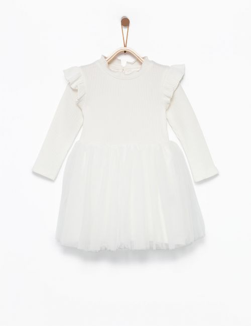 שמלת ריב טוטו שרוולים ארוכים