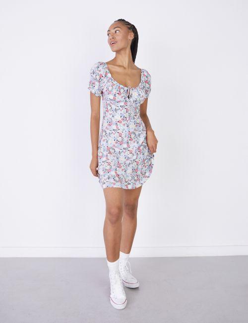 שמלת מיני פרחונית