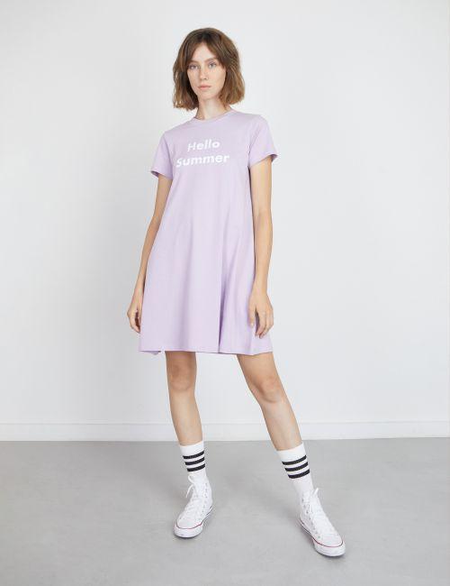 שמלת טי עם הדפס