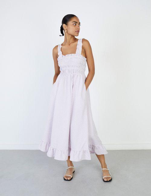 שמלת ציפקה משבצות