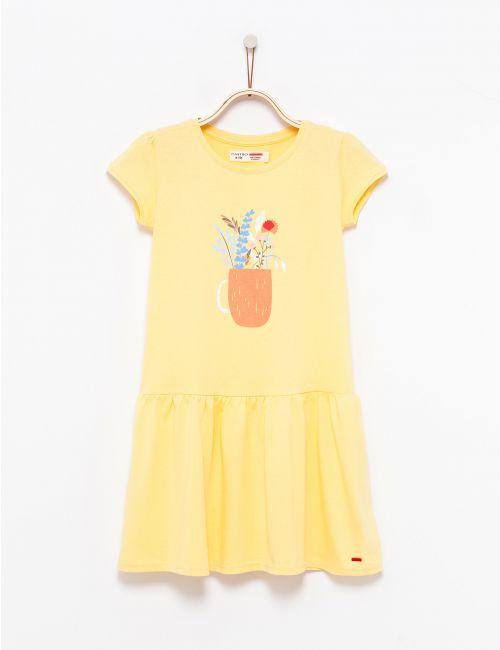 שמלה בהדפס עציץ