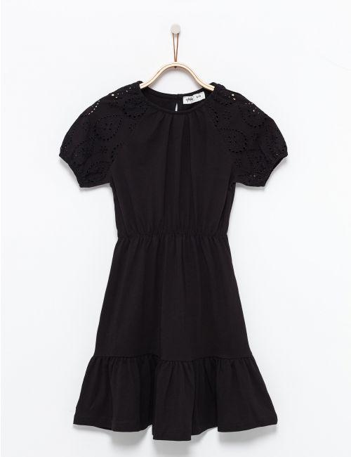 שמלת פפלום עם שררולים רקומים