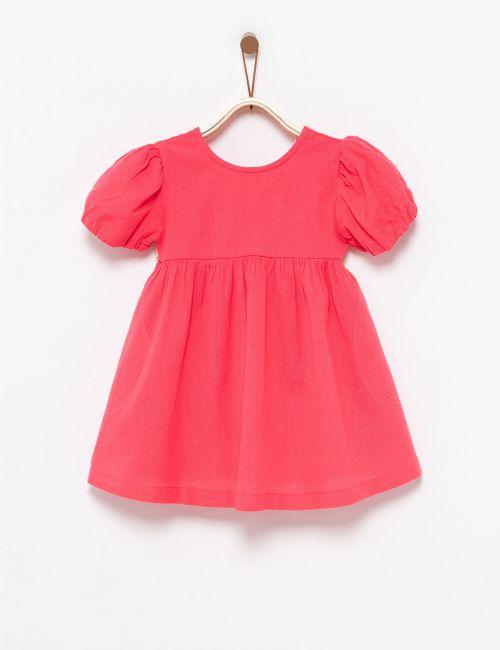 שמלה עם שרוולים תפוחים ופפיון