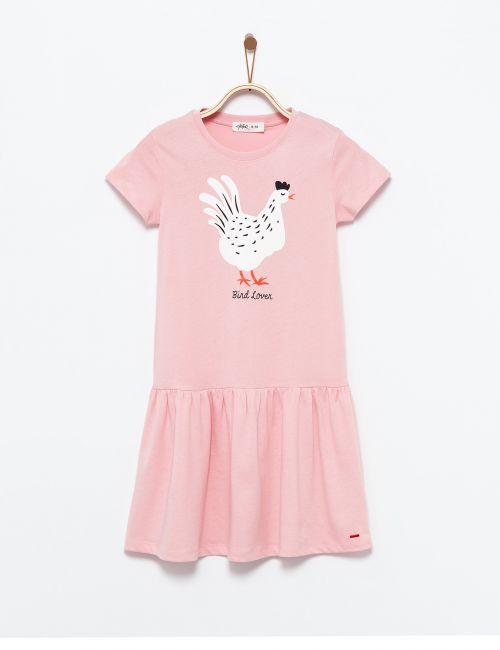 שמלת טי מסתובבת בהדפס חיה