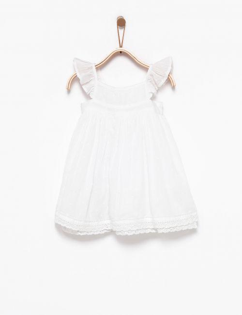 שמלת תחרה עם שרוולי וולאן