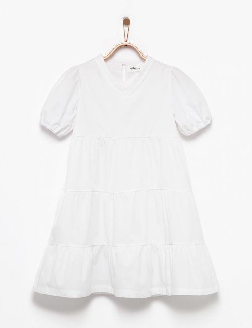 שמלת קומות עם שרוולים מכווצים