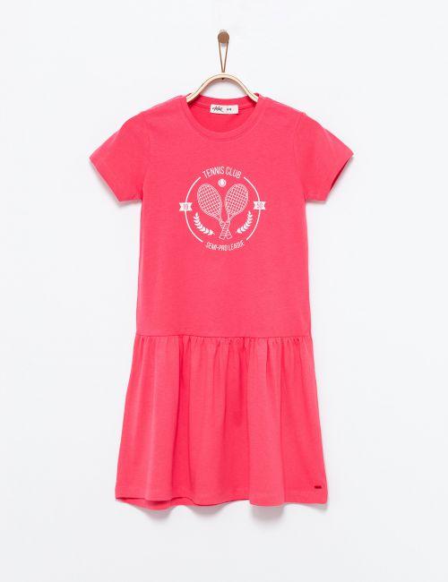שמלת טי בהדפס טניס