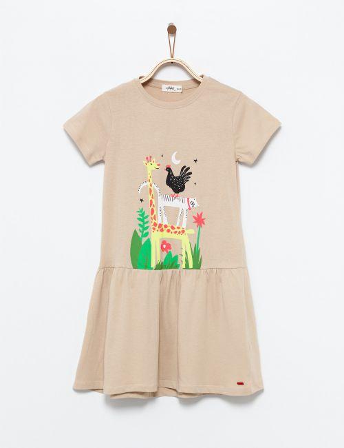 שמלה טי בהדפס חיות