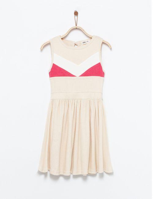 שמלת קולור בלוק עם אלמנט מובלט