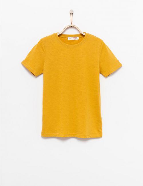 חולצת טי בטקסטורת סלאב - יוניסקס