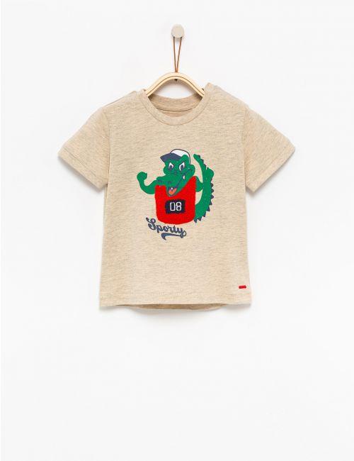 חולצת טי בהדפס תנין
