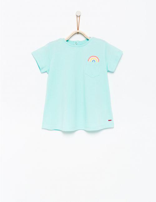 חולצת טי עם הדפס קשת בענן