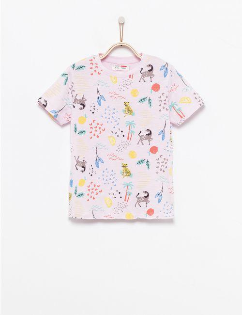 חולצת טי בהדפס צבעוני