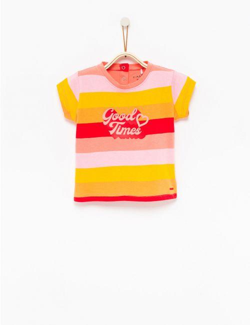 חולצת טי פסים צבעוניים