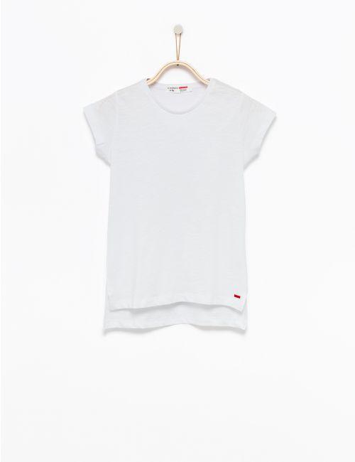 חולצת טי בסיומת אסימטרית