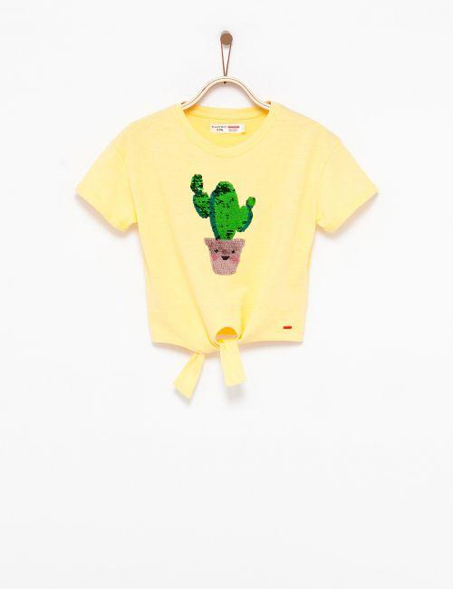 חולצת טי קשירה פאייטים מתחלפים