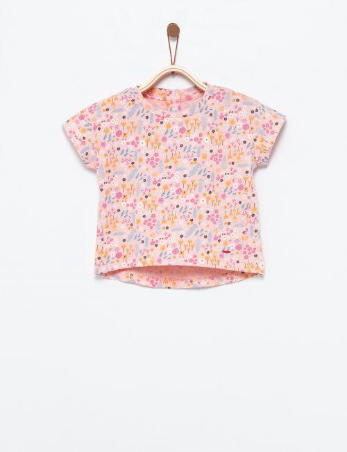 חולצת טי פרחונית