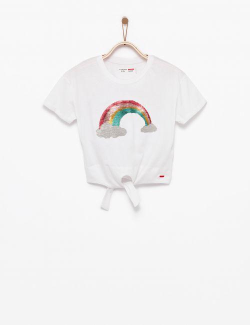 חולצת טי קשירה עם פייאטים מתחלפים