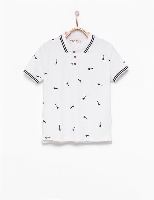 חולצת פולו עם רקמה