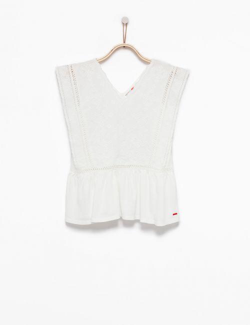 חולצת פפלום עם רקמה