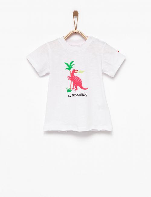 חולצת טי דינוזאור ורוד