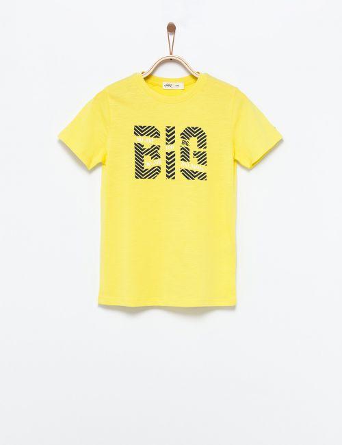 חולצת טי כיתוב BIG