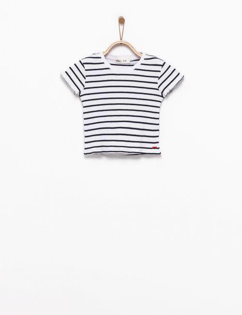 חולצת טי ריב מודפסת
