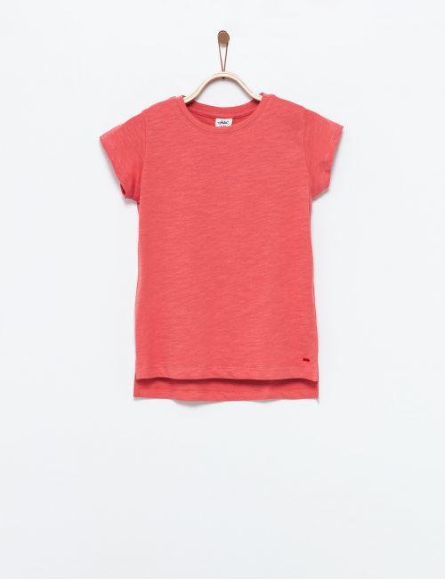 חולצת טי אסימטרית צווארון עגול
