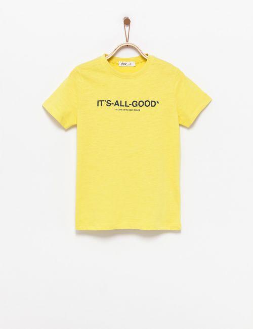 חולצת טי עם כיתוב קדמי