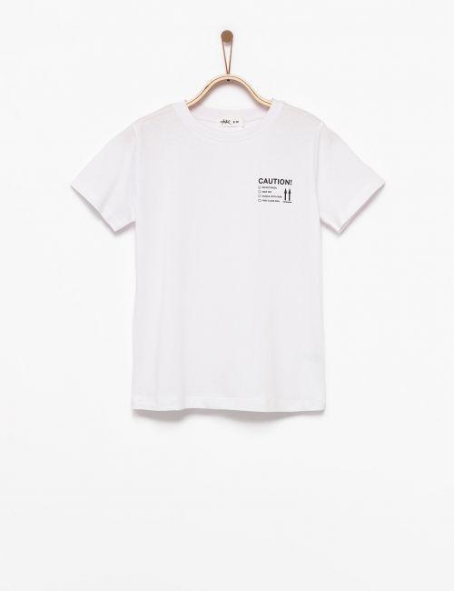 חולצת טי טקסט צד