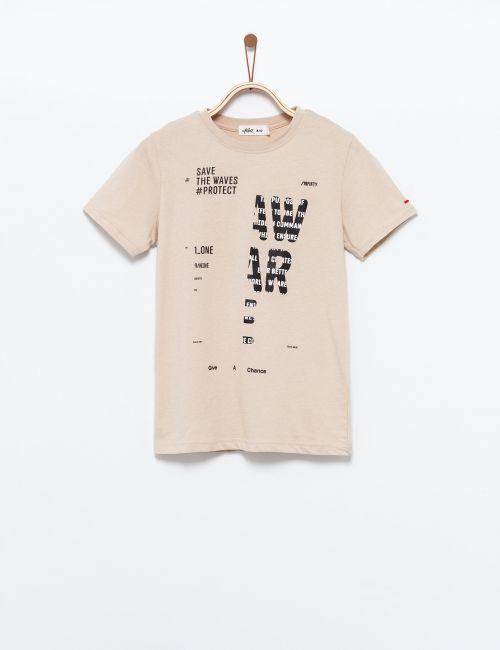 חולצת טי הדפס חתוך
