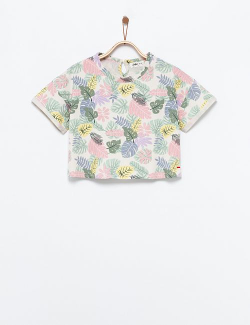 חולצת טי עלים