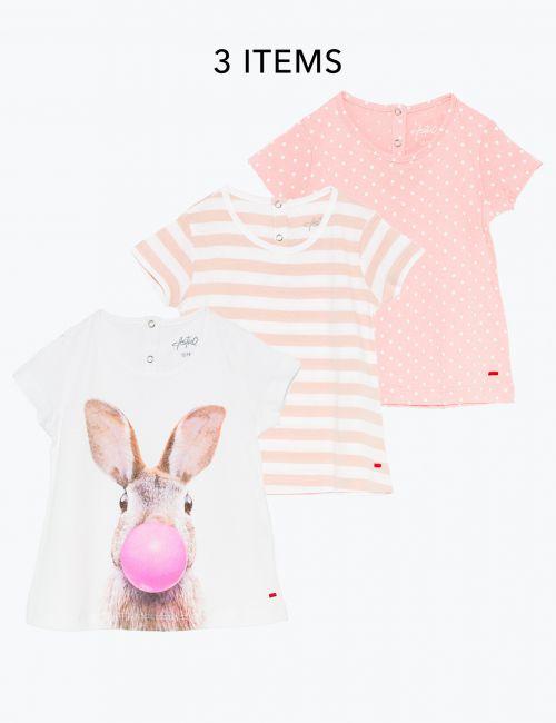 מארז 3 חולצות מודפסות